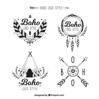 Große Logos in Boho-Stil