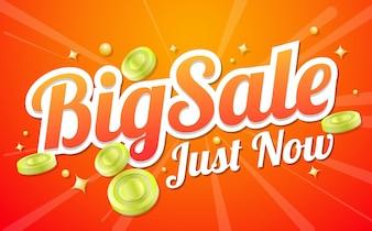 Große Verkauf Schablone Banner Vektor Hintergrund