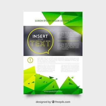 Großes Business-Broschüre mit grünen Formen