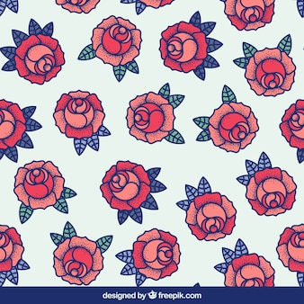 Großes Muster von Rosen