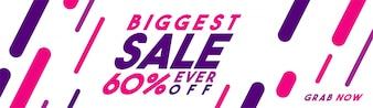 Größter Verkauf Banner mit 60% Rabatt.
