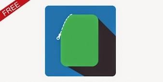 Grün elektronische Geldbörse Symbol