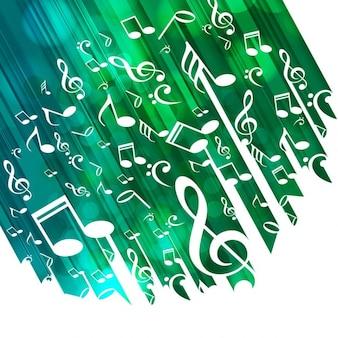 Grün musikalischen Hintergrund