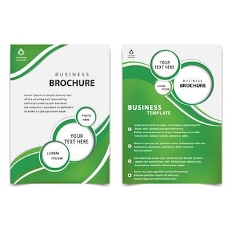 grün professionelle Business-Broschüre Vorlage