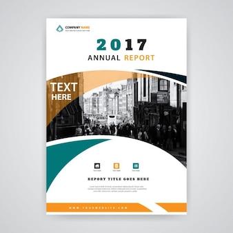 Grün und orange 2017 Jahresbericht