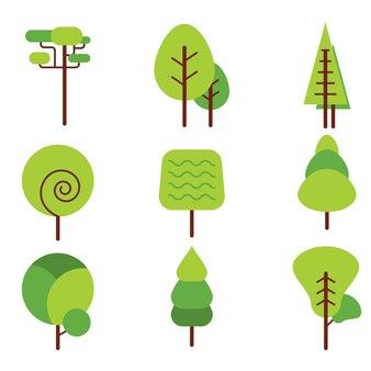 Grüne Bäume Sammlung