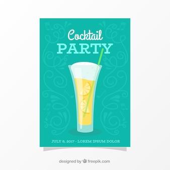 Grüne Broschüre Cocktailparty