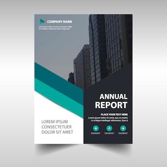 Grüne kreative Jahresbericht Buchabdeckung Vorlage
