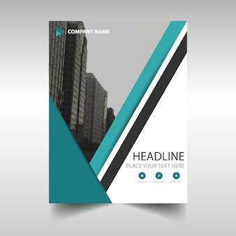 Grüne kreative Jahresbericht Bucheinbandes Vorlage