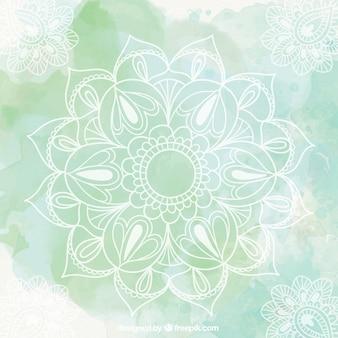 Grüne Mandala-Hintergrund