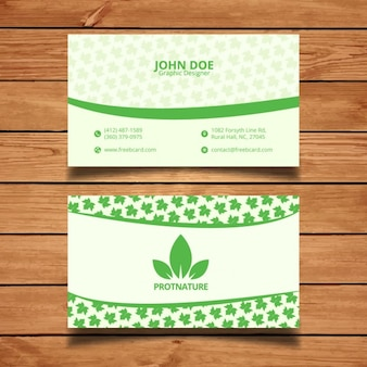 Grüne natürliche Visitenkarte Design