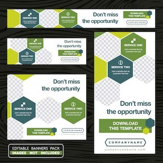 Grüner und weißer Business Flyer