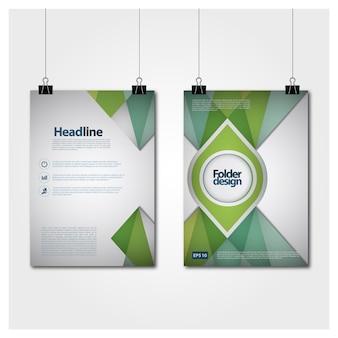 Grüner und weißer Plakatentwurf