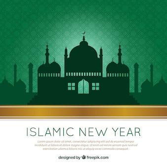 Grünes islamisches neues Jahr Hintergrund