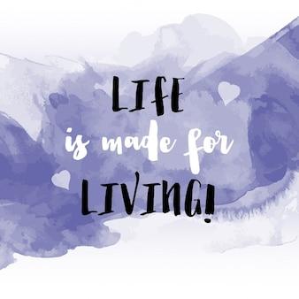 Grunge-Stil Aquarell Hintergrund mit inspirierend Zitat