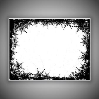 Grunge-Stil Schneeflocke Hintergrund
