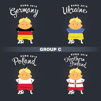 Gruppe c Fußballspieler