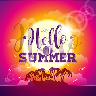 Hallo sommer bunter hintergrund