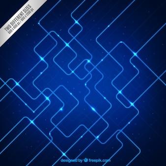 Hallo-Tech-Hintergrund in Blautönen