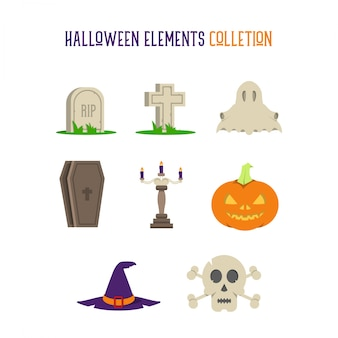 Halloween Elements Sammlung