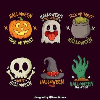 Halloween Etiketten Sammlung