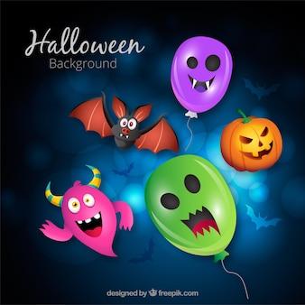 Halloween Hintergrund mit Spaß Elemente