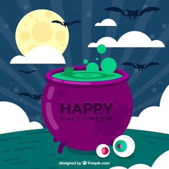 Halloween Hintergrund mit Zaubertrank