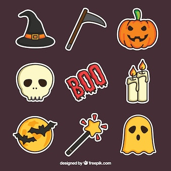 Halloween-Kollektion mit flachem Design