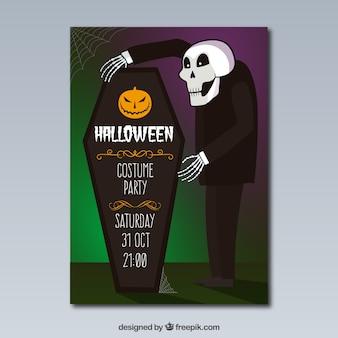 Halloween-Kostüm-Party-Plakat