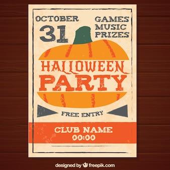 Halloween-Retro Plakat