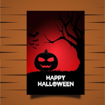Halloween-Vektor-Karte