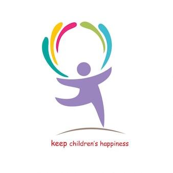 Halten Kinder Glück