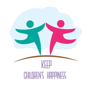 Halten Sie das Glück der Kinder