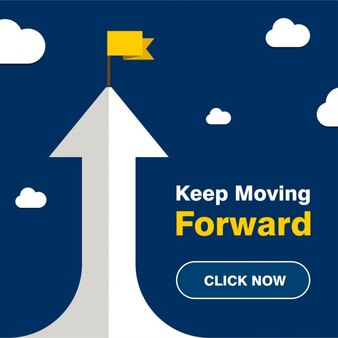 Halten Sie Moving Forward Wachstum Poster
