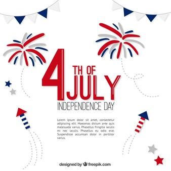 Hand bemalt Feuerwerk Hintergrund der Tag der Unabhängigkeit