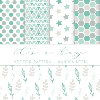 Hand bemalt Muster Design