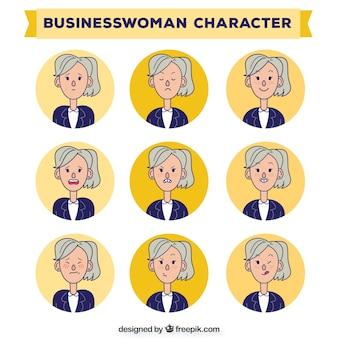 Hand gezeichnet Business-Frauen Zeichen