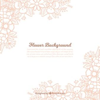 Hand gezeichnet floral background mit schönen Stil