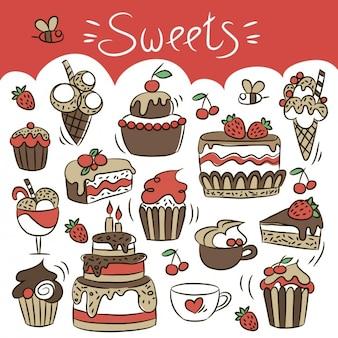 Hand gezeichnet Süßigkeiten
