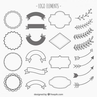 Hand gezeichnet Verzierungen für Logos