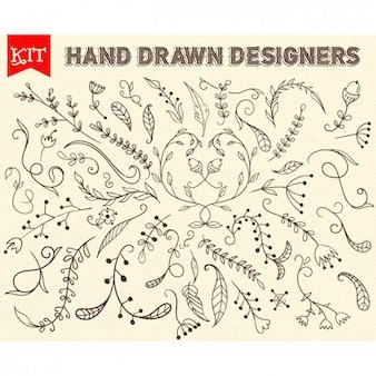 Hand gezeichnet Zweige Design