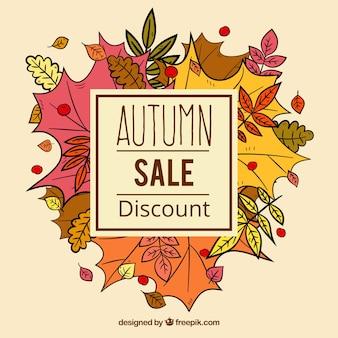 Hand gezeichnete Blätter und Herbst Verkauf