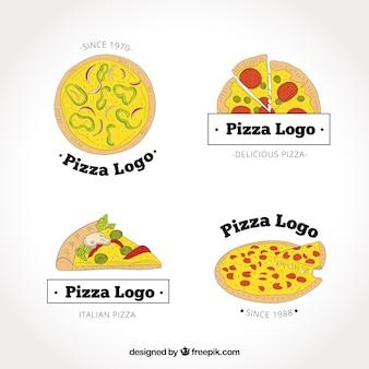 Hand gezeichnete Pizzeria Logos