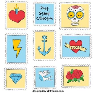 Handgefertigte Briefmarkensammlung