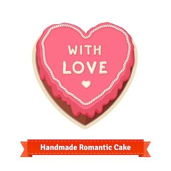 Handgemachter romantischer Kuchen