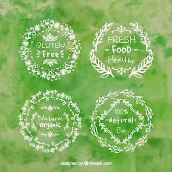 Handgemalte grüne Natur Abzeichen