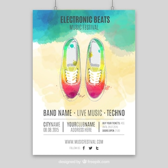 Handgemalte Musikplakat
