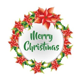 Handgezeichnete Aquarell Weihnachten Rahmen Designs