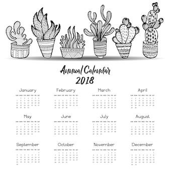 Handgezeichnete Kaktus-Sammlung