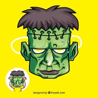 Handgezeichnete Monstermaske